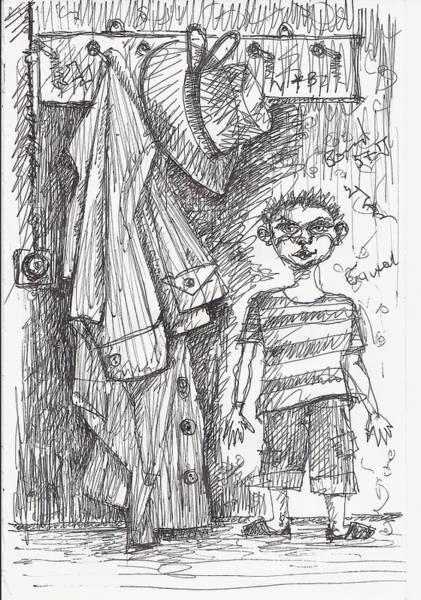 Drawing - An Apartment Goblin by Maxim Komissarchik
