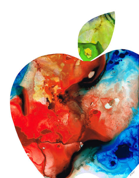 Painting - An Apple A Day - Colorful Fruit Art By Sharon Cummings  by Sharon Cummings
