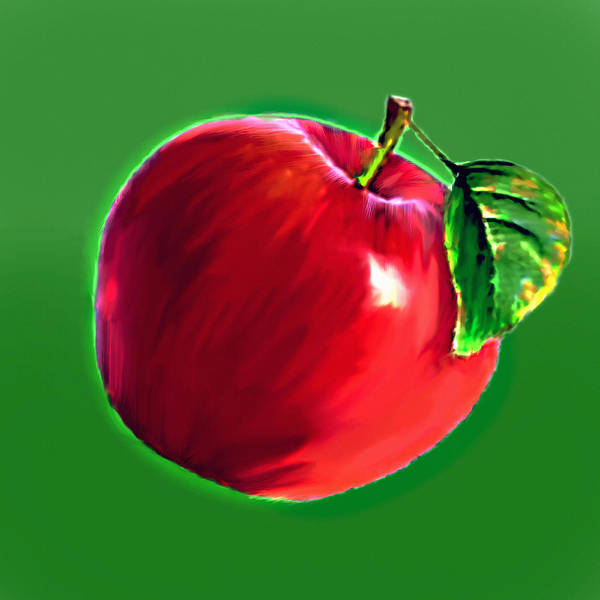 Painting - An Apple That Will Never Go Bad by Bob and Nadine Johnston
