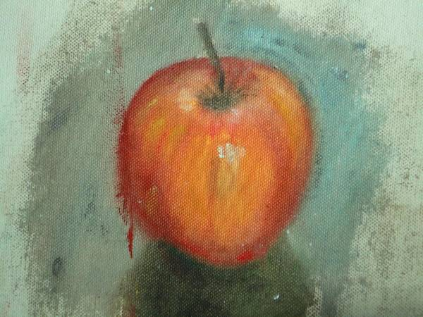 Usha Painting - An Apple by Usha Shantharam