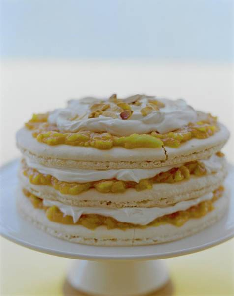 2005 Photograph - An Apricot Almond Layer Cake by Romulo Yanes