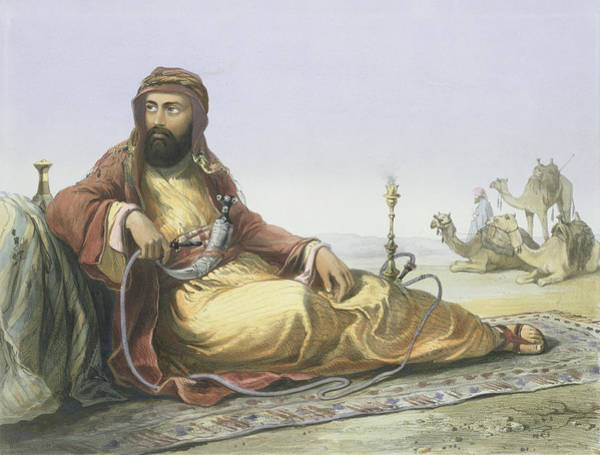 Wall Art - Drawing - An Arab Resting In The Desert, Title by Emile Prisse d'Avennes