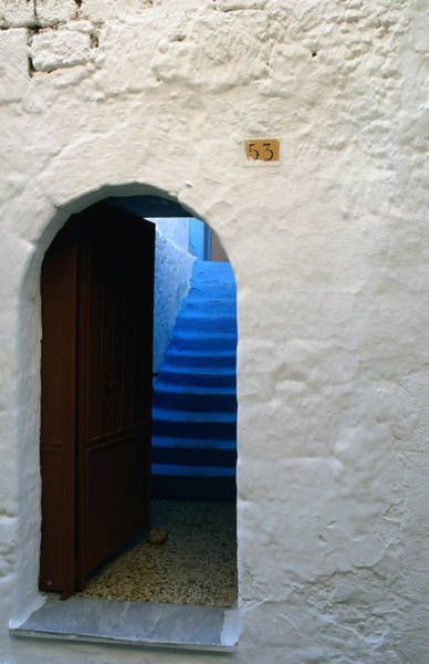 Dodecanese Photograph - An Archway Leading To An Old House, In by George Tsafos