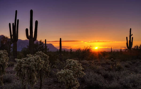 Superstition Mountains Photograph - An Arizona Winter Sunrise by Saija  Lehtonen