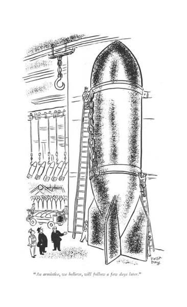 Officials Drawing - An Armistice by Robert J. Day
