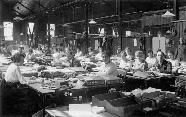 Wall Art - Photograph - An Army Pay Office, During  World War by Mary Evans Picture Library