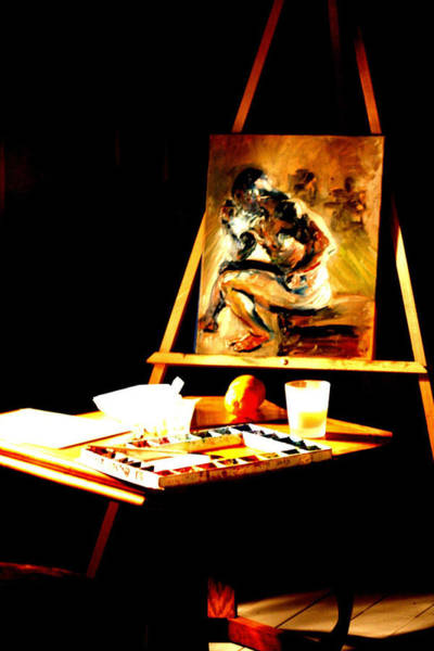 Digital Art - An Art Easel by Joseph Coulombe