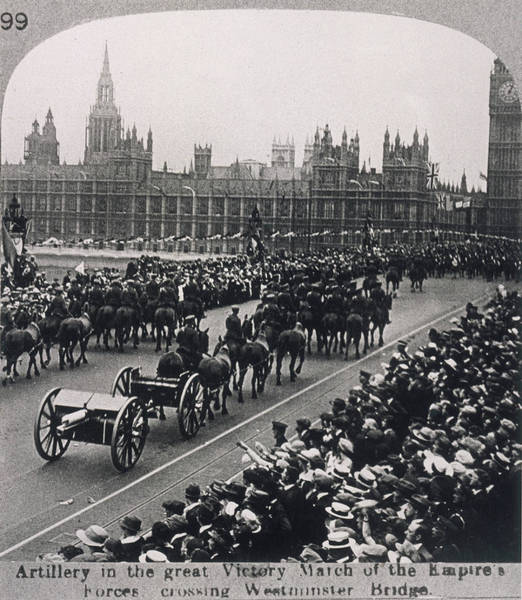 Artillery Brigade Photograph - An Artillery Brigade Cross  Westminster by Mary Evans Picture Library