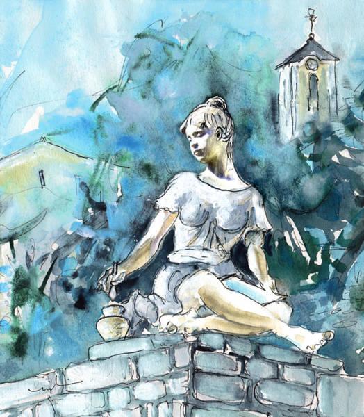 Painting - An Artist From Szentendre by Miki De Goodaboom