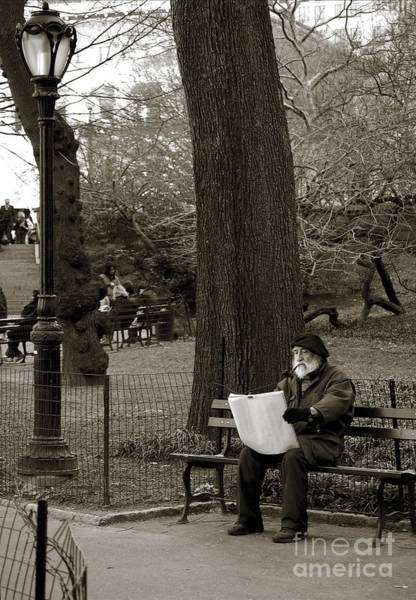 Photograph - An Artist In Central Park by RicardMN Photography