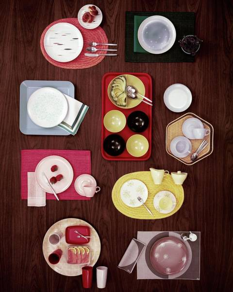 Home Accessories Photograph - An Assortment Of Dinnerware by Tom Yee