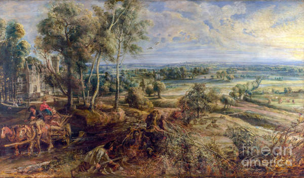 Wall Art - Painting - An Autumn Landscape With A View Of Het Steen by Viktor Birkus