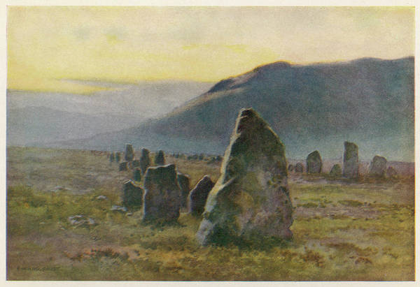 Mist Drawing - An Avenue Of Standing Stones by Mary Evans Picture Library