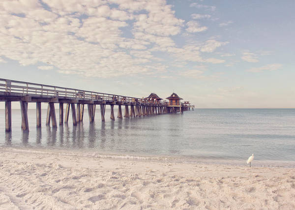 Ocean Breeze Photograph - An Early Morning - Naples Pier by Kim Hojnacki