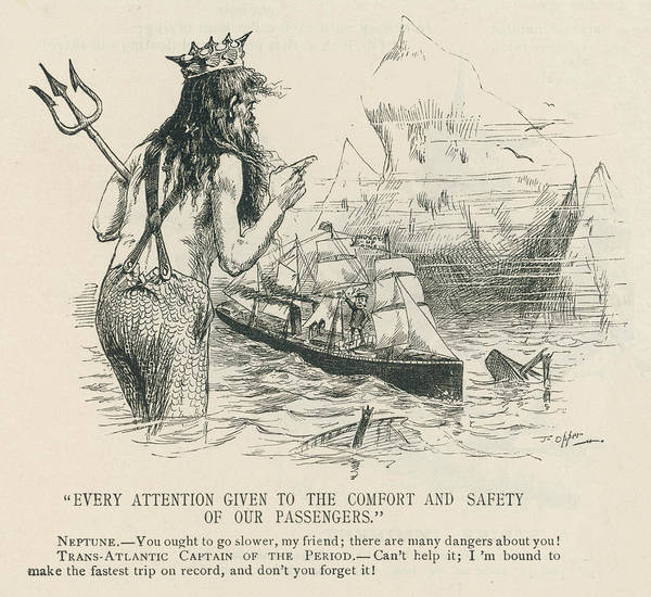 Risk Drawing - An Early Warning Of The Risks  Involved by Mary Evans Picture Library