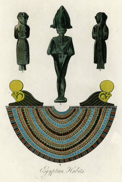 An Egyptian Necklace And  Figurines Art Print