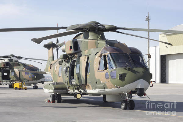 Agustawestland Photograph - An Eh101 Utility Helicopter by Timm Ziegenthaler
