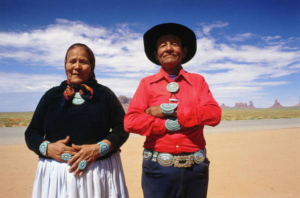 Indigenous People Photograph - An Elderly Couple Of The Navajo Tribe by Dallas Stribley