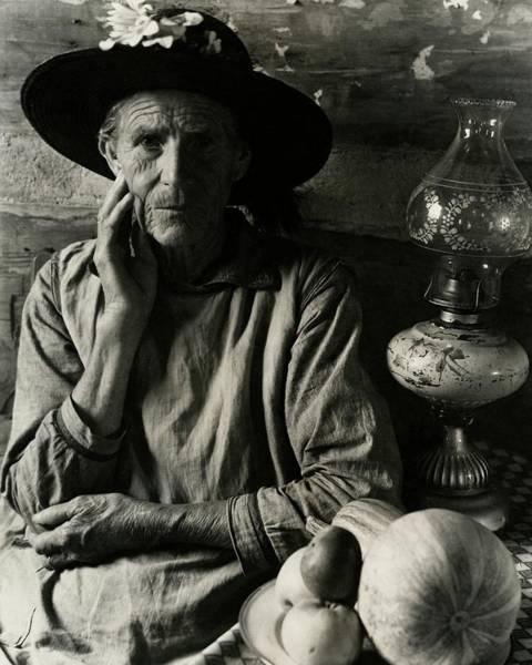 Sun Hat Photograph - An Elderly Man by Louise Dahl-Wolfe