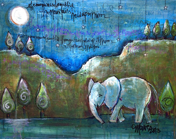 Painting - An Elephant For You by Laurie Maves ART