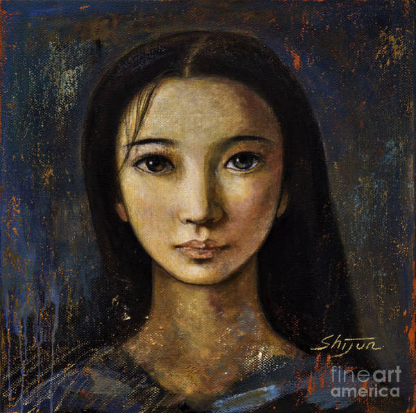 Wall Art - Painting - An Enigmatic Face by Shijun Munns
