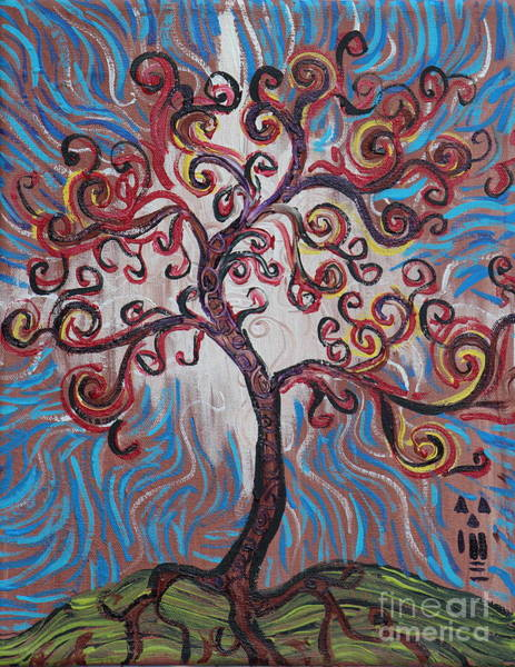 Painting - An Enlightened Tree by Stefan Duncan