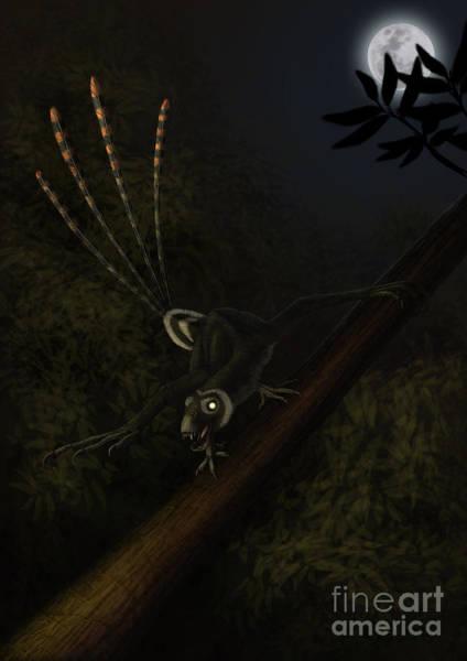 Paleobotany Digital Art - An Epidexipteryx Reacts Aggressively by Alvaro Rozalen