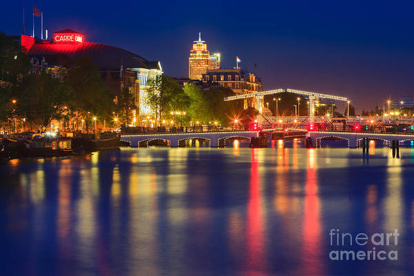 Noord Holland Wall Art - Photograph - An Evening In Amsterdam by Henk Meijer Photography