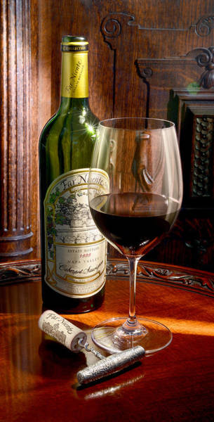 Vintage Wine Photograph - An Evening With Far Niente by Jon Neidert