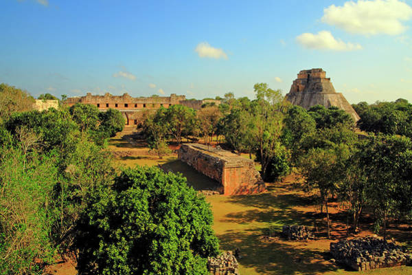 Yucatan Wall Art - Photograph - An Expansive View Of The City At Uxmal by Brian Phillpotts