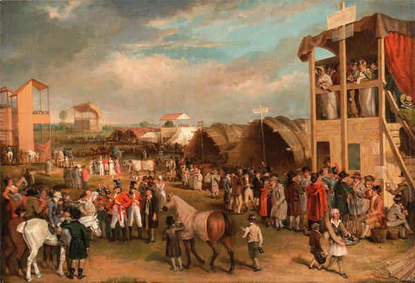 Scaffold Painting - An Extensive View Of The Oxford Races, Charles Turner by Litz Collection