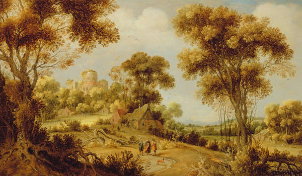 Disciple Wall Art - Painting - An Extensive Wooded Landscape by Gillis Claesz d' Hondecoeter