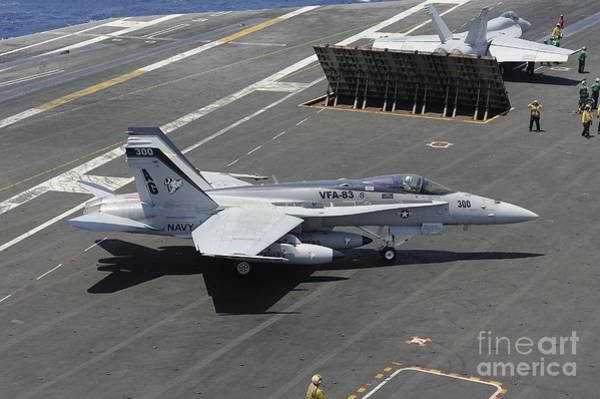 A-18 Hornet Wall Art - Photograph - An Fa-18 Hornet Of The U.s. Navy Aboard by Remo Guidi