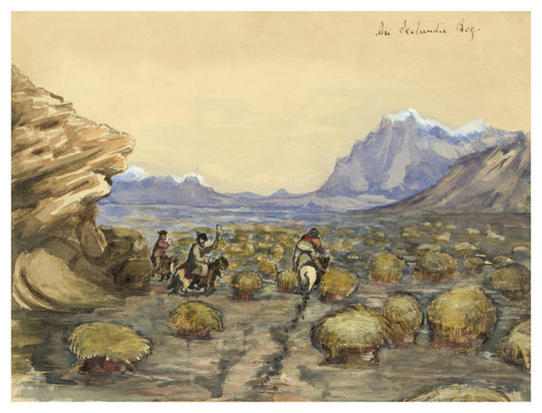 Faroe Island Wall Art - Painting - An Icelandic Bog Circa 1862 by Aged Pixel