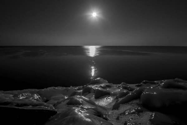 Photograph - An Icy Moonrise by Sven Brogren