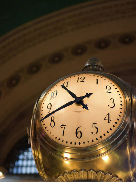 Commute Photograph - An Illuminated Clock In Grand Central by David H. Wells