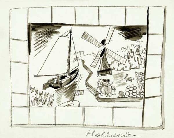 Holland Digital Art - An Illustrated Depiction Of Holland by Ludwig Bemelmans