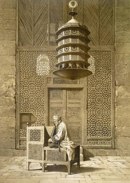 Decorative Drawing - An Imam Reading The Koran In The Mosque by Maurice Keating