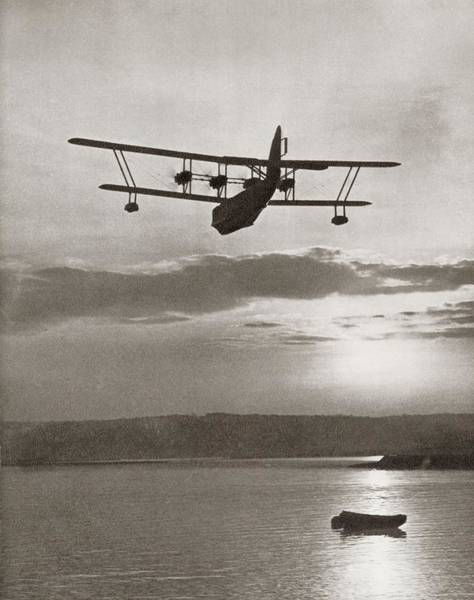 Sea Plane Photograph - An Imperial Airlines Scipio Class Flying Boat C.1931.  From The Story Of 25 Eventful Years by American School