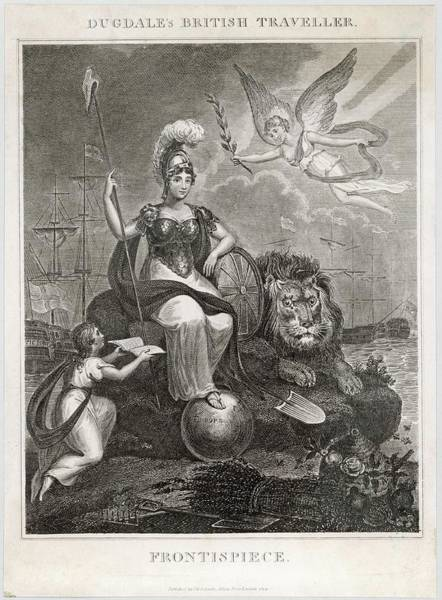 Olive Branch Drawing - An Imperious Britannia With  Her Foot by Mary Evans Picture Library
