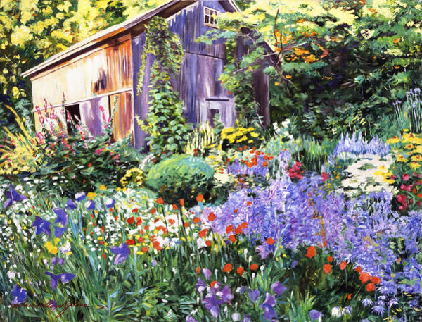 Old South Painting - An Impressionist Garden by David Lloyd Glover