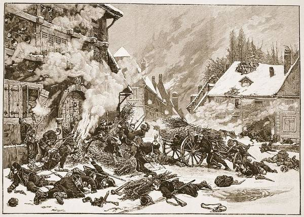 Soldier Drawing - An Incident In The Battle by Alphonse Marie de Neuville