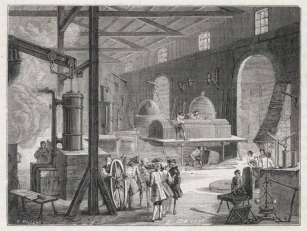 Wall Art - Drawing - An Interior View Of Boulton  And Watt's by Mary Evans Picture Library