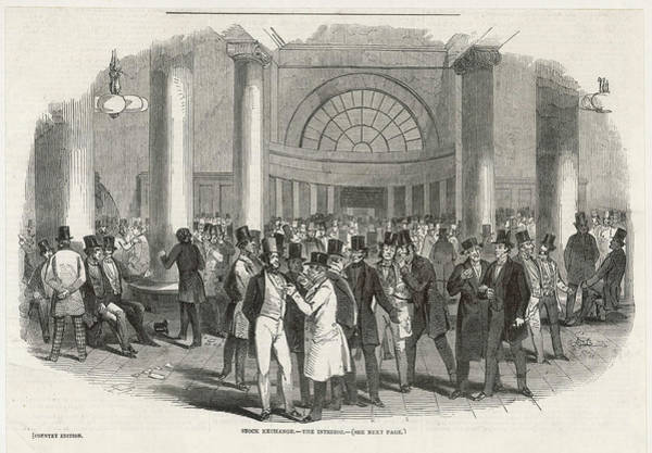 Wall Art - Drawing - An Interior View Of The Busy London by  Illustrated London News Ltd/Mar