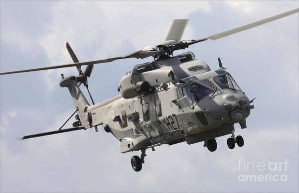 Utility Aircraft Photograph - An Italian Navy Nh90 Helicopter by Timm Ziegenthaler