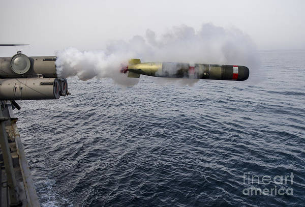 Wall Art - Photograph - An Mk 54 Mod 0 Torpedo Is Launched by Stocktrek Images