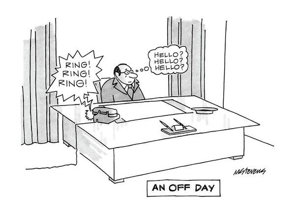 March 3rd Drawing - An Off Day by Mick Stevens