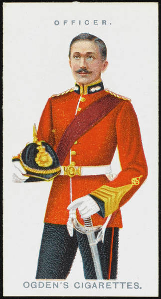 Wall Art - Drawing - An Officer From The Royal  Marines by Mary Evans Picture Library