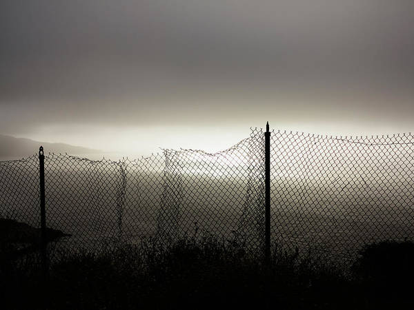 Chain Link Photograph - An Old Chain-link Fence by Ron Koeberer