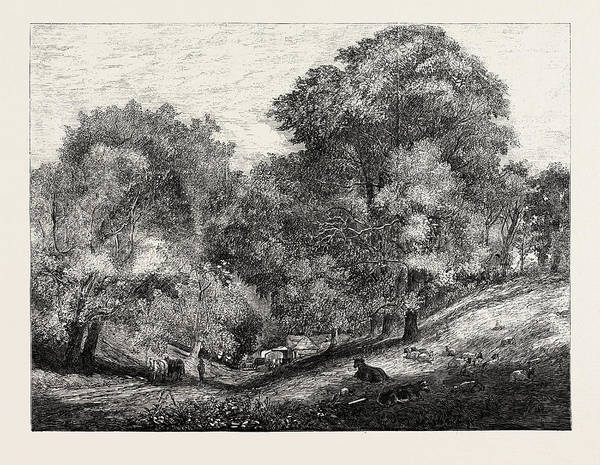 Homestead Drawing - An Old English Homestead by Redgrave, Richard Ra (1804-1888), English